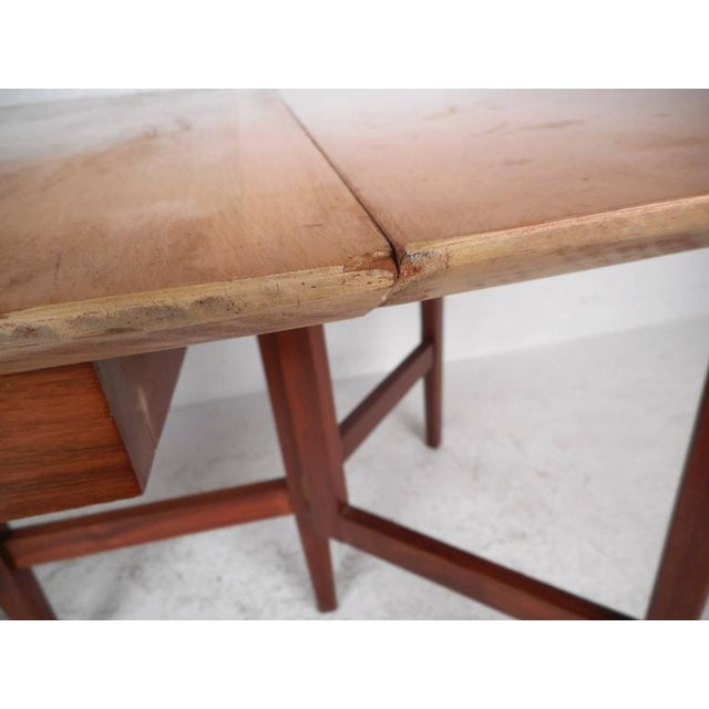 Brown Mid-Century Modern Gate Leg Dining Table For Sale - Image 8 of 9