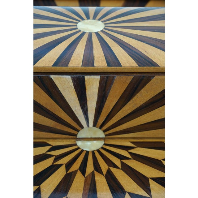 Art Deco 1920s Paul Giordano Paris Serving Tray Exotic Wood Parquet For Sale - Image 10 of 12