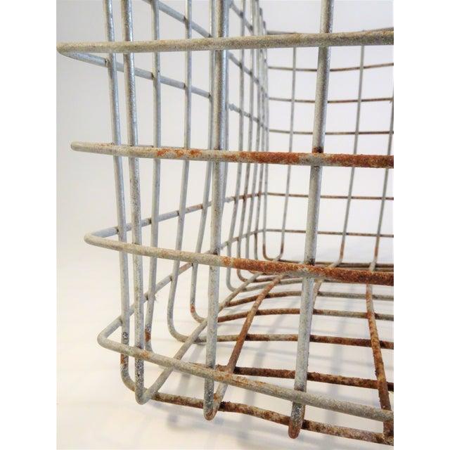 Vintage Wire Locker Baskets - Set of 3 For Sale - Image 10 of 11