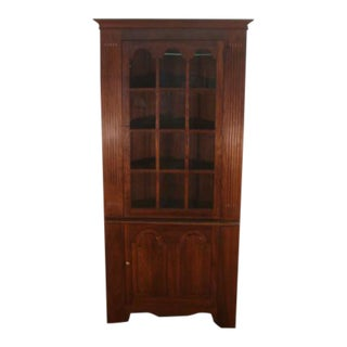 Stickley Solid Cherry Corner China Cabinet For Sale