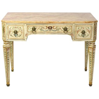 Neoclassical Style Painted Dressing Table or Desk For Sale