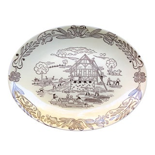 1940s Vintage Bucks County, Pa Serving Platter For Sale