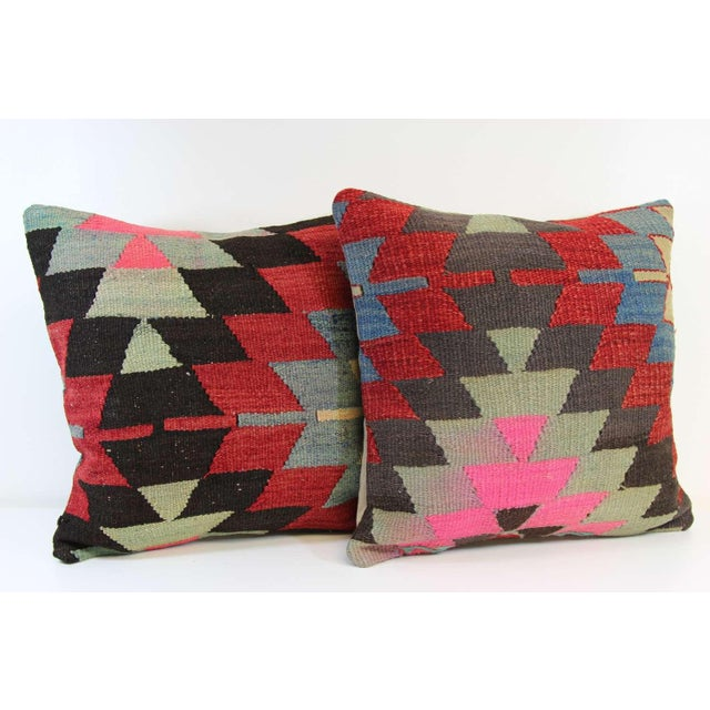 Kilim Pillow Covers - A Pair - Image 6 of 6