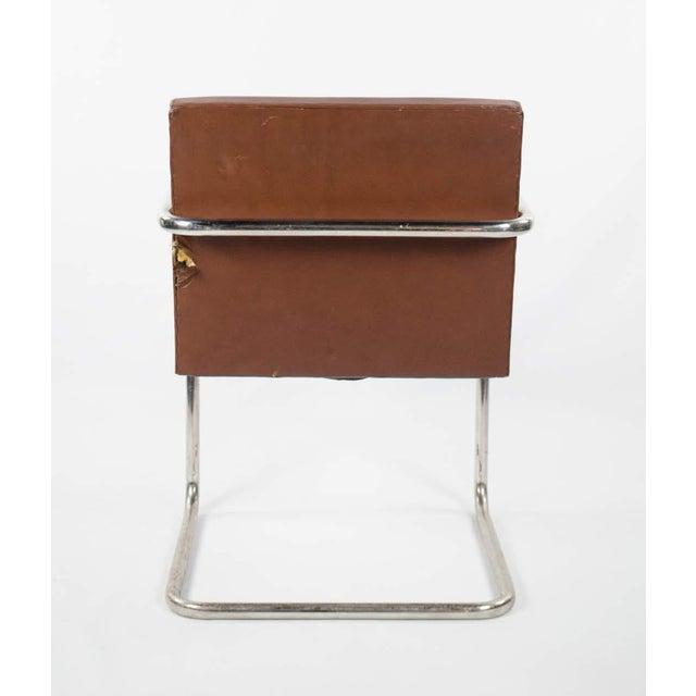 1960s Mid-Century Modern Brno Knoll International Tubular Chrome and Naugahyde Arm Chair For Sale - Image 12 of 13