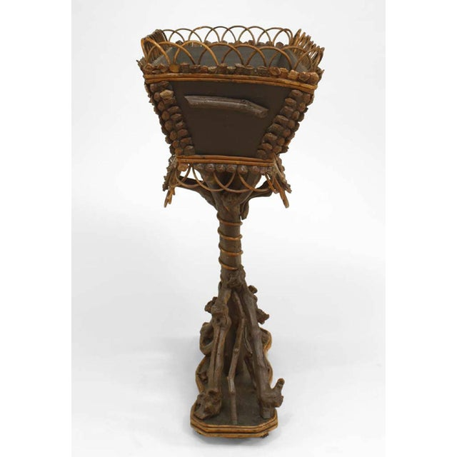 Black Forest 19th Century Rustic Continental Twig and Root Rectangular Top Fernery For Sale - Image 3 of 3