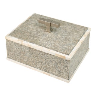 Steven Gambrel Collection T Handle Box Nickel in Grey / Nickel For Sale