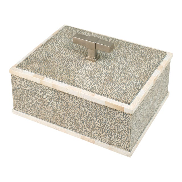 T Handle Box Nickel in Grey / Nickel - Steven Gambrel for The Lacquer Company For Sale