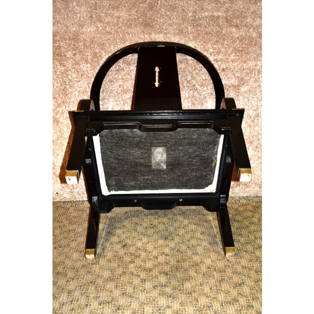 1980s Pallavisini Asian Style Italian Chair For Sale In Philadelphia - Image 6 of 12