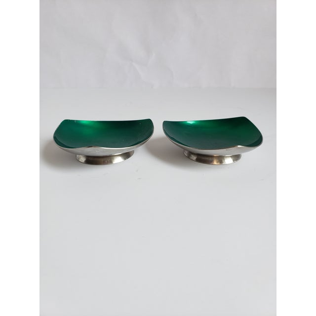 Green Mid Century Modern Selton Danish Candle Holders-A Pair For Sale - Image 8 of 8