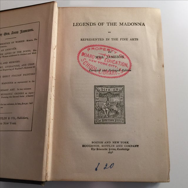 Traditional Legends of the Madonna Represented Fine Arts 1896 For Sale - Image 3 of 10