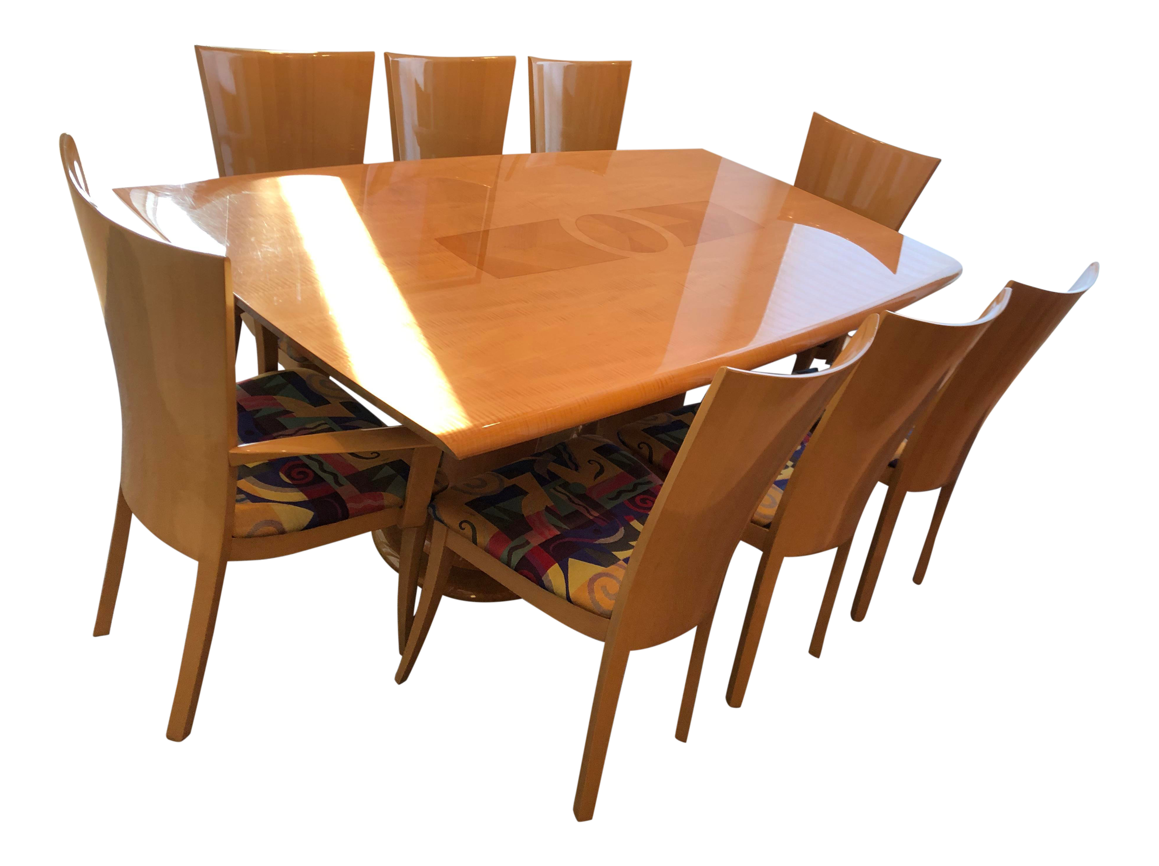 Italian Modern Excelsior Designs Dining Set - 9 Pieces