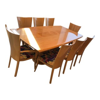 Italian Modern Excelsior Designs Dining Set - 9 Pieces For Sale