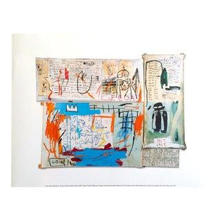 "Jean Michel Basquiat Estate Fine Art Offset Lithograph Pop Art Print ""Piscine Versus the Best Hotels"" 1982 For Sale"