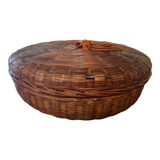 Early 20th Century Antique Sewing Basket For Sale