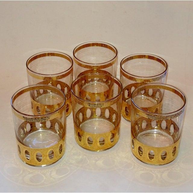 Culver Gold Cased Rocks Glasses - Set of 6 - Image 2 of 4