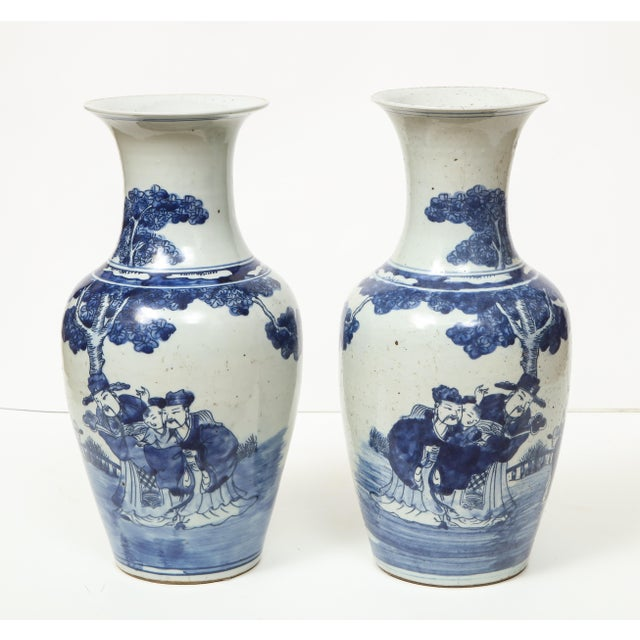 1970s Chinese Export Vases - A Pair For Sale - Image 5 of 13