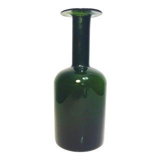Otto Brauer for Holmegaard Extra Large Dark Green Gulvase Vase For Sale
