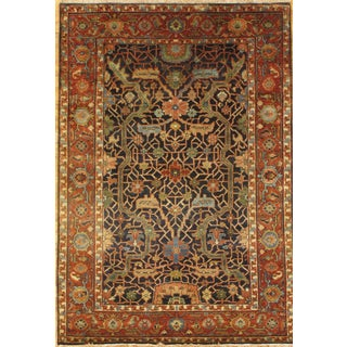 Hand-knotted Serapi Rug - 4' x 6' For Sale
