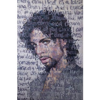 Oil Painting of Prince by Christina Major For Sale