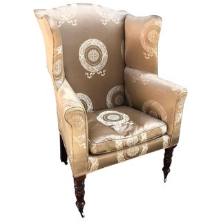 Baltimore Wing Back Chair, Circa 1810