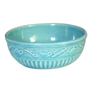 Roseville Pottery Turquoise Bowl For Sale
