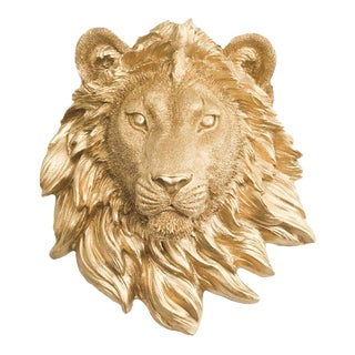 Wall Charmers Lion Mini in Gold Animal Decor Art