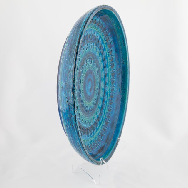 """""""Rimini Blu"""" Ceramic Platter by Aldo Londi for Bitossi, Circa 1960s For Sale In New York - Image 6 of 13"""