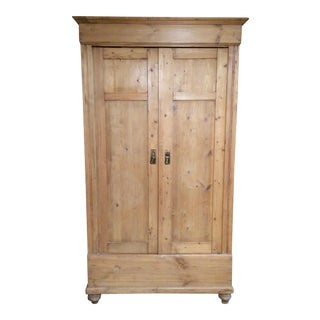 Vintage Pine Armoire For Sale