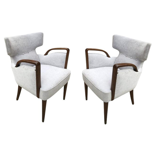 Melchiorre Bega Armchairs Model 511 For Sale