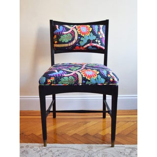 1950s Vintage Oak Chair With Josef Frank Fabric Preview
