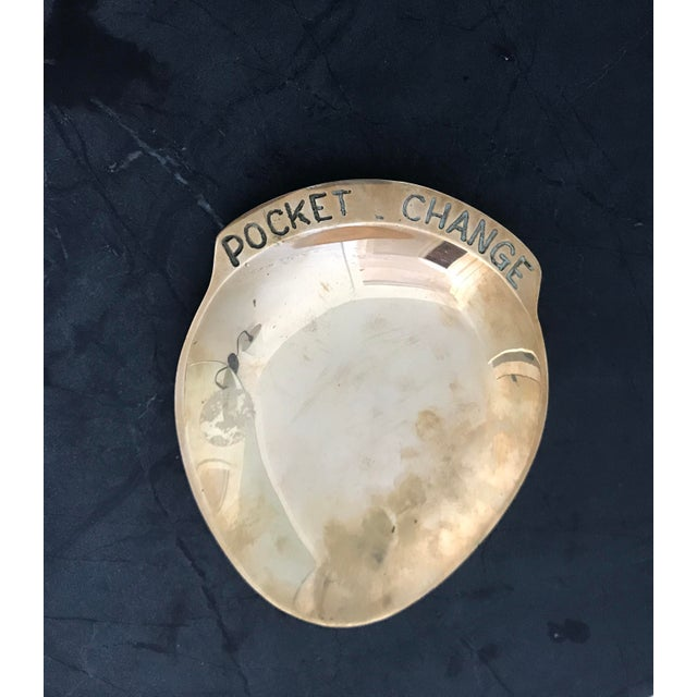 1960's Polished Brass Pocket Change Dish For Sale In Minneapolis - Image 6 of 6