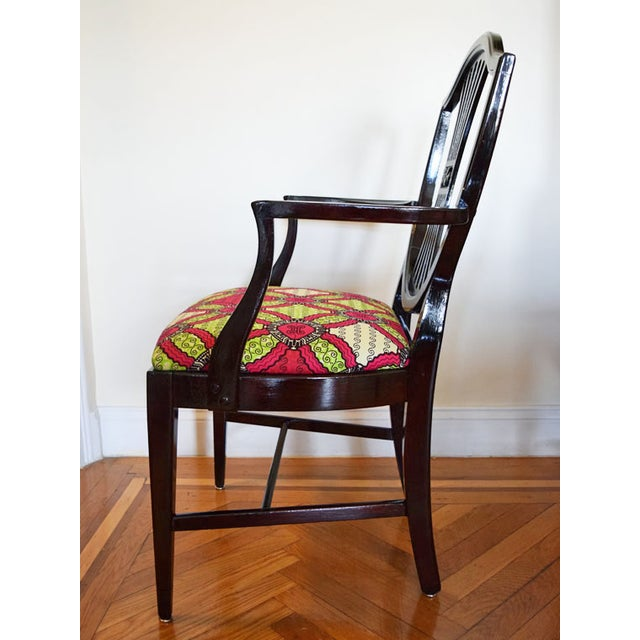 Antique-Style Shield Back Armchair - Image 4 of 7