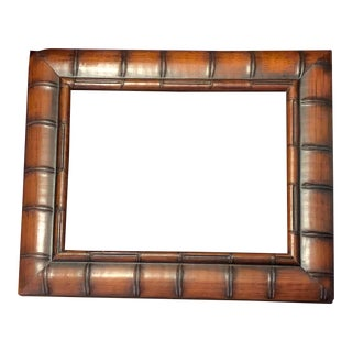 1960s Faux Bamboo Picture Frame For Sale