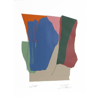 Larry Zox, Green Card Sound I, Abstract Serigraph
