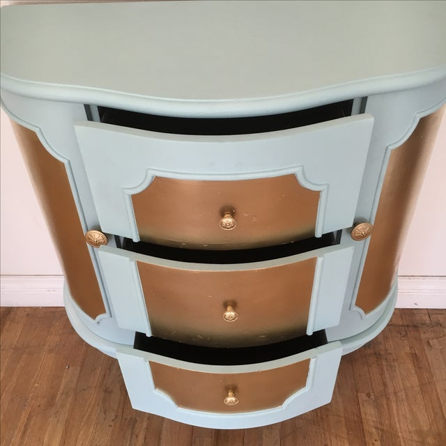 Demilune Console Table or Storage Cabinet - Image 8 of 9