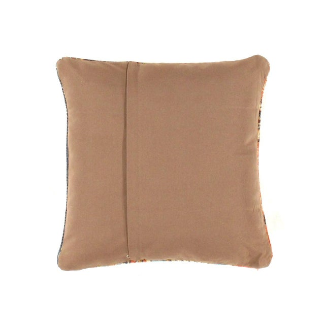 Offered is an antique handwoven Turkish Oushak pillow. This is 100% wool. Back 100% cotton. Beautiful colors and well...