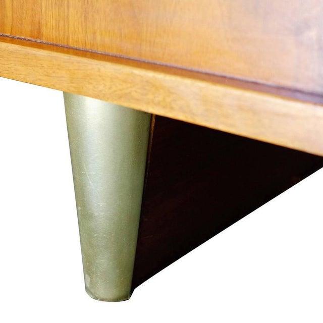 Mid-Century Mahogany Executive Desk With Brass Pulls - Image 9 of 10