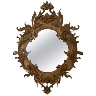 19th Century Italian Gilt Carved Mirror For Sale