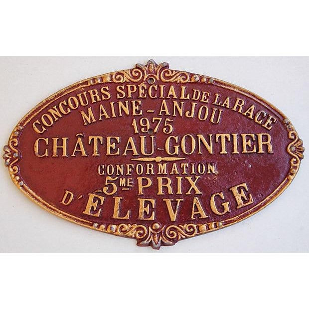 Vintage French 1975 Chateau-Gontier Award Plaque - Image 2 of 3