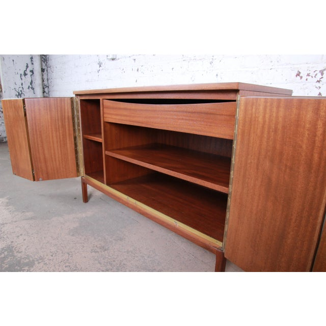 Paul McCobb for Calvin Irwin Collection Mahogany Sideboard Credenza, Newly Restored For Sale - Image 9 of 13