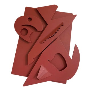 Contemporary Abstract Steel Wall Sculpture For Sale