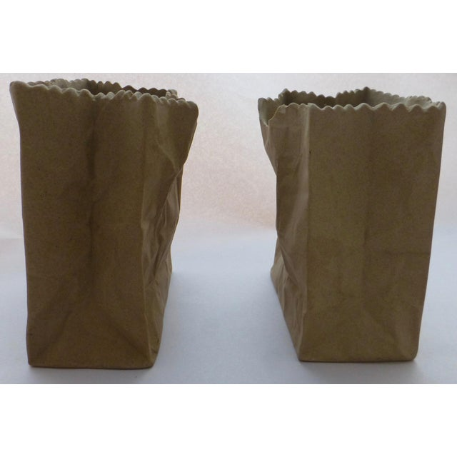 Contemporary Tapio Wirkkala Rosenthal Paper Bag Vases- A Pair For Sale - Image 3 of 10