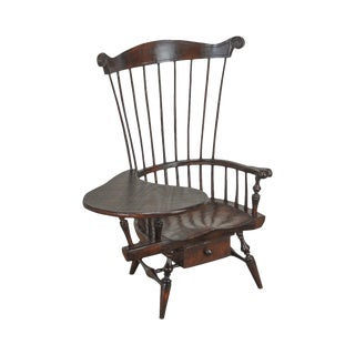Windsor Style Miniature Childs Writing Arm Chair by K. Malone (18th Century Reproduction) For Sale