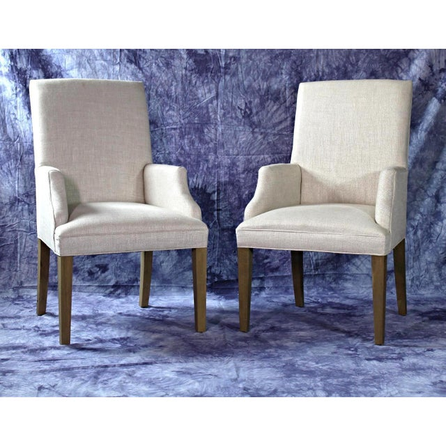Modern Upholstered Armchairs - A Pair For Sale - Image 11 of 11