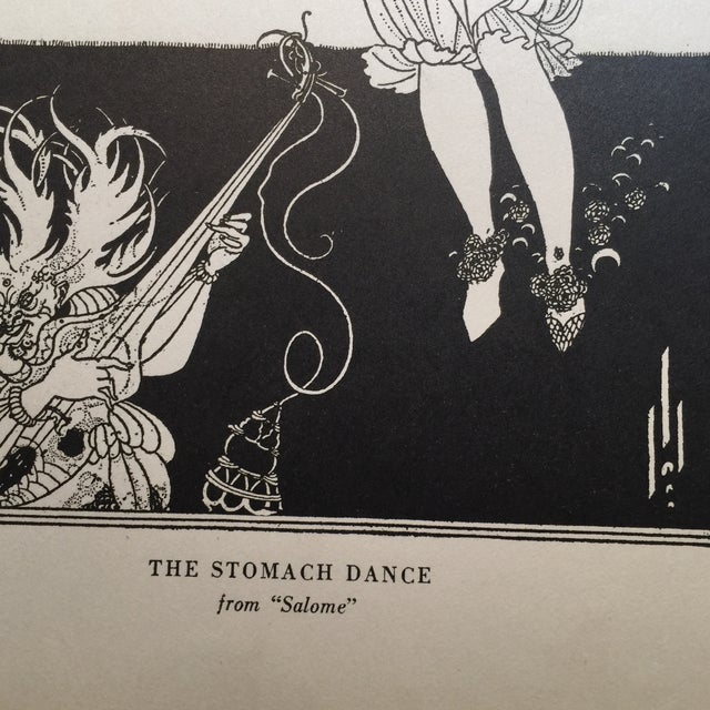 Art Deco Dance From Salome Print by Aubrey Beardsley 1927 For Sale - Image 3 of 5