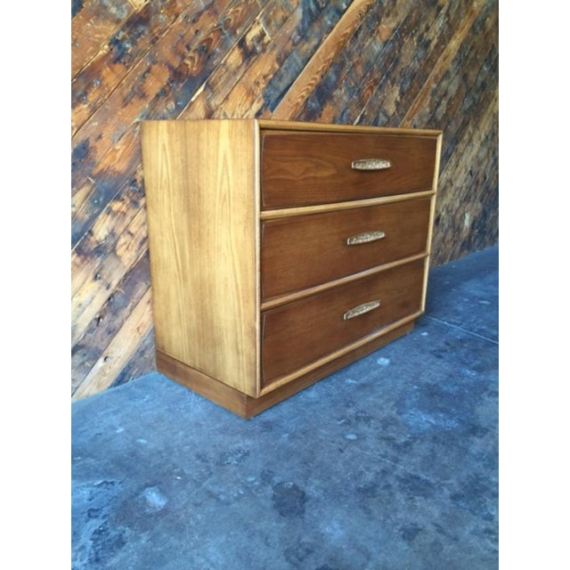 Heritage Heritage Mid-Century Refinished Walnut Dresser For Sale - Image 4 of 9