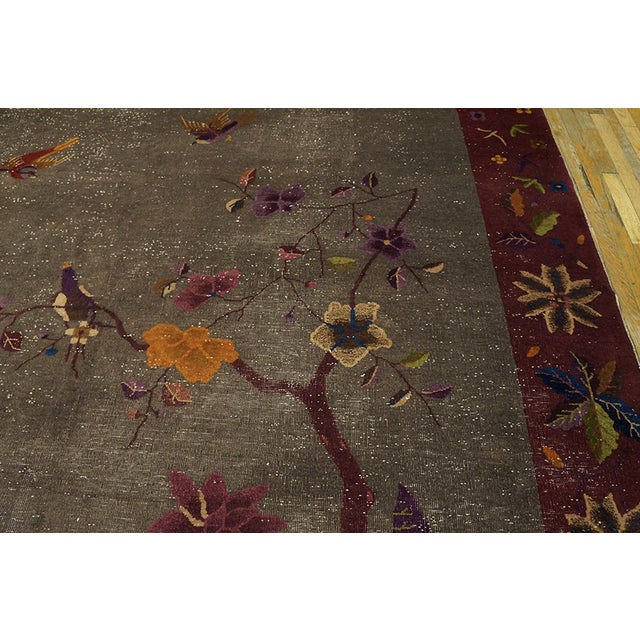 """Antique Chinese Art Deco Rug 8'10""""x11'6"""" For Sale - Image 9 of 13"""