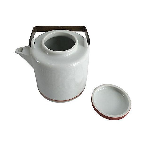 Mid-Century Modern Mid-Century Dansk Jack Lenor Larsen Porcelain Teapot For Sale - Image 3 of 5