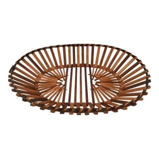 Vintage Wooden Stick Basket For Sale