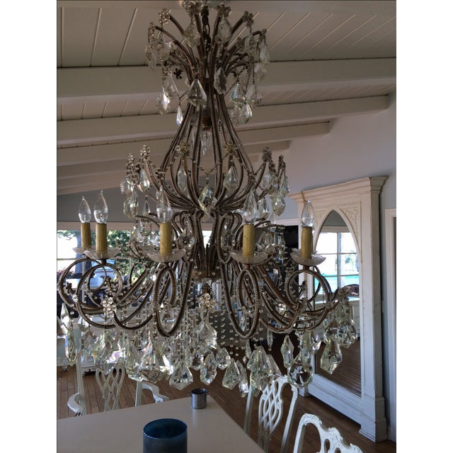 Crystal & Brass French Chandelier - Image 2 of 3